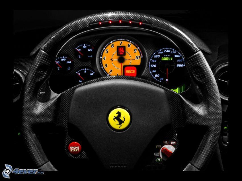 Ferrari F430 Scuderia, volant