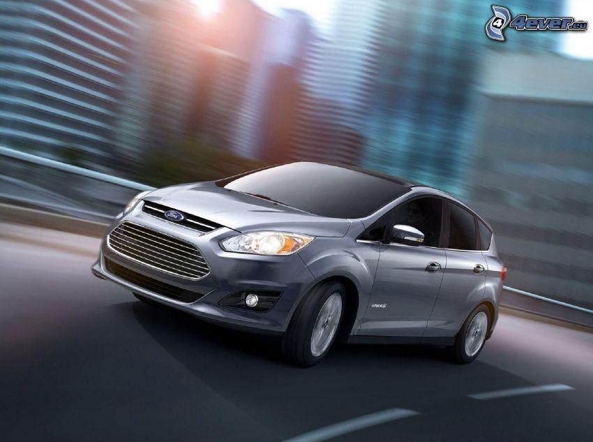 Ford C-Max, cesta, rýchlosť, mesto