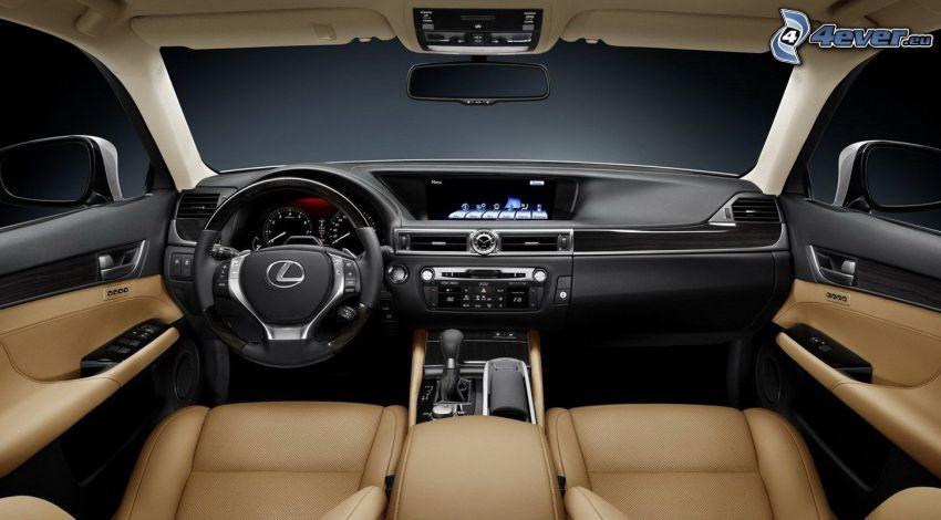 Lexus GS 350, volant, palubná doska, interiér