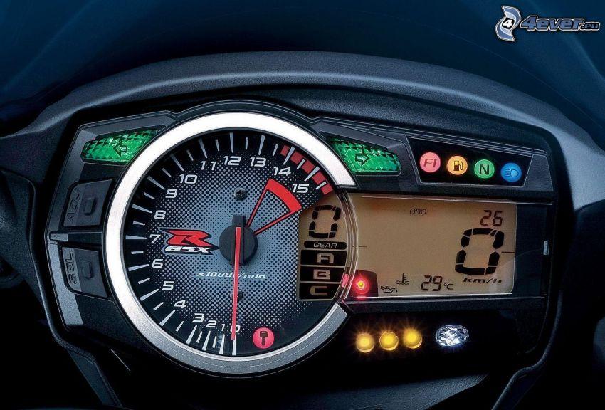 Suzuki GSX-R, tachometer