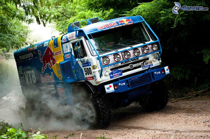 nákladné auto, prach