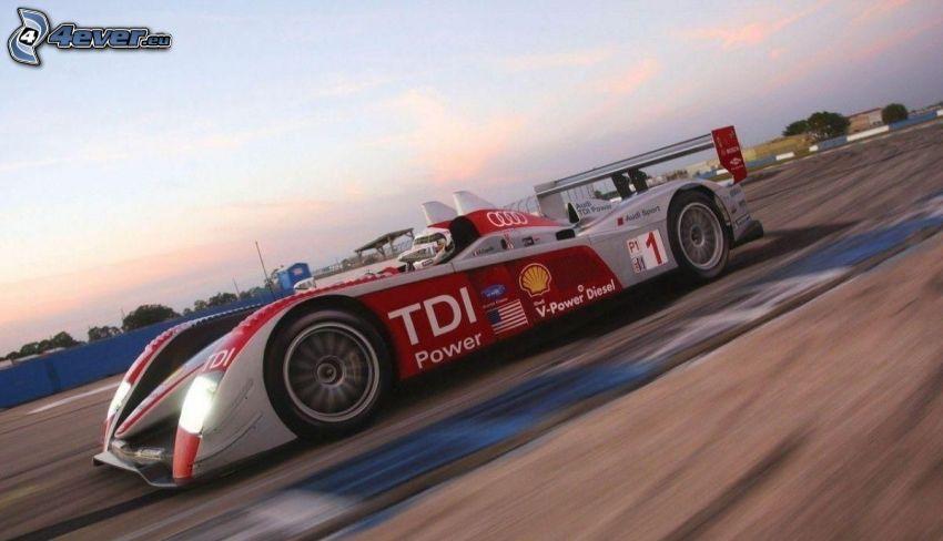 Audi R10 TDI, rýchlosť, pretekársky okruh