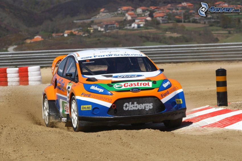 Ford Fiesta RS, rally, pretekársky okruh