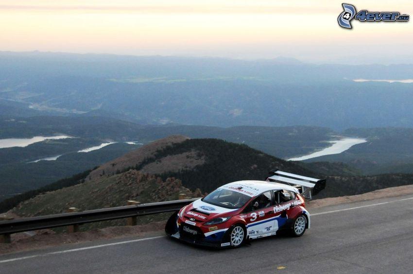 Ford Fiesta RS, rally, výhľad na krajinu