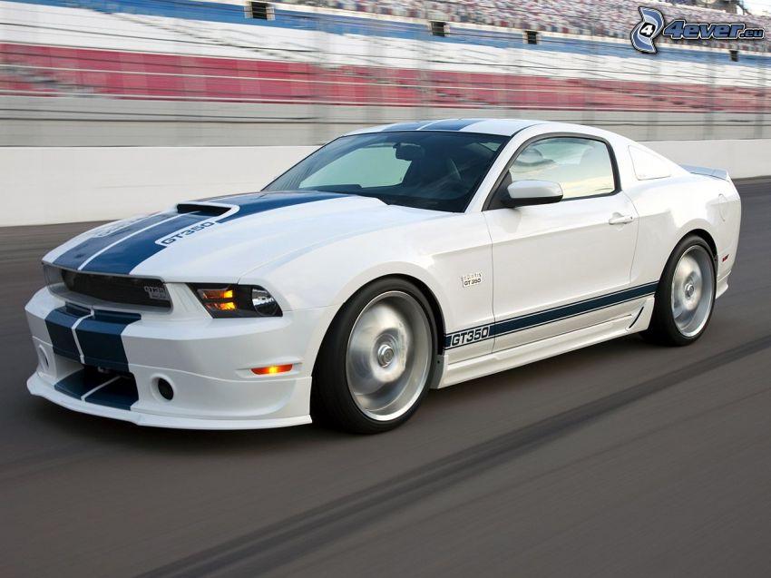 Ford Mustang Shelby, preteky, rýchlosť