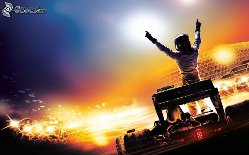 Formula 1, pretekári, svetlo