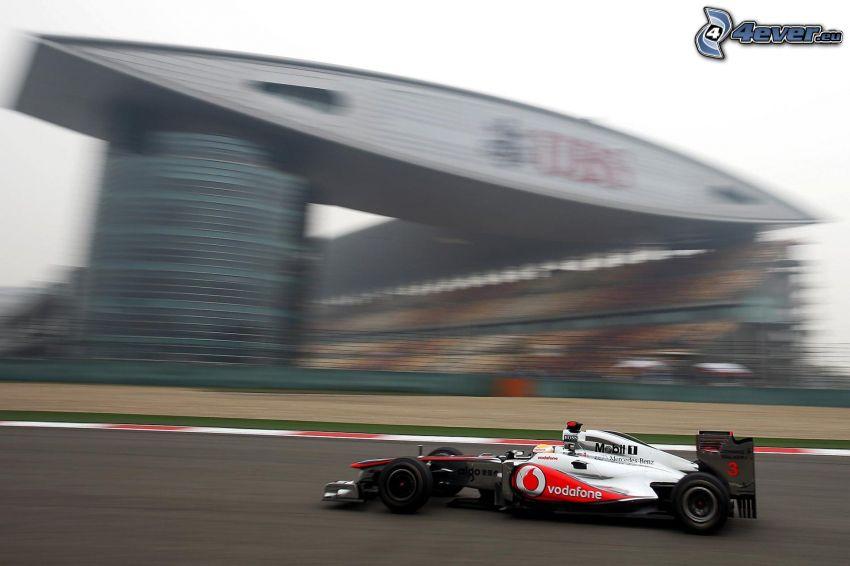 Formula 1, rýchlosť, pretekársky okruh