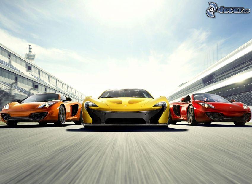 McLaren P1, kabriolet, rýchlosť, preteky
