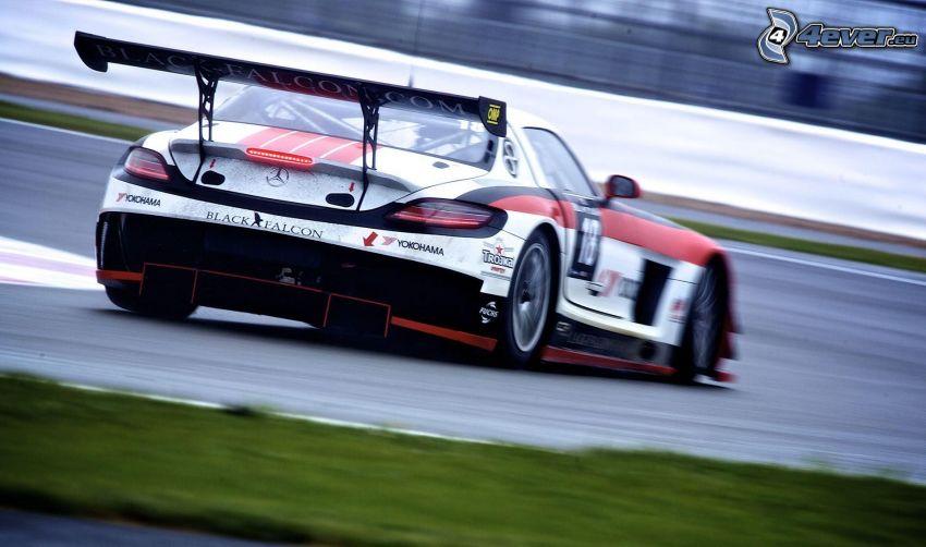 Mercedes, pretekárske auto, rýchlosť, pretekársky okruh
