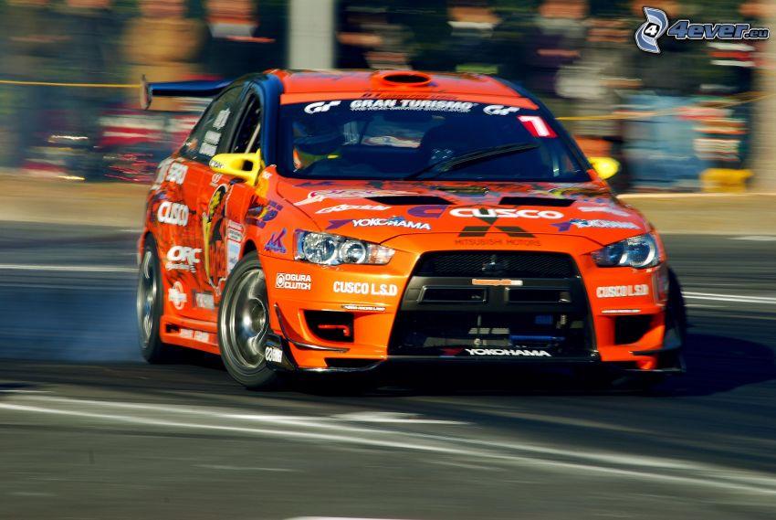 Mitsubishi Lancer Evolution, drift, rally