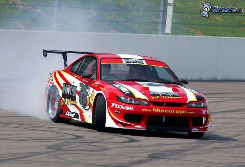 Nissan Silvia, pretekárske auto, drift