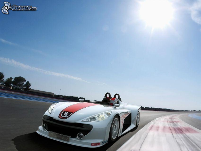 Peugeot, kabriolet, pretekársky okruh, rýchlosť