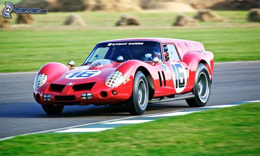 pretekárske auto, veterán, rýchlosť, pretekársky okruh