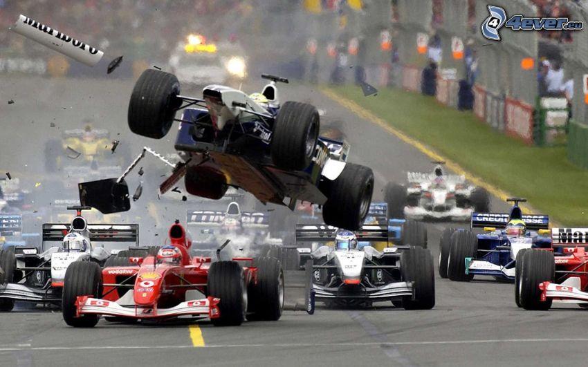 preteky, Formula 1, havária