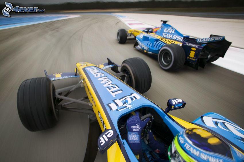 Renault F1, monopost, pretekársky okruh