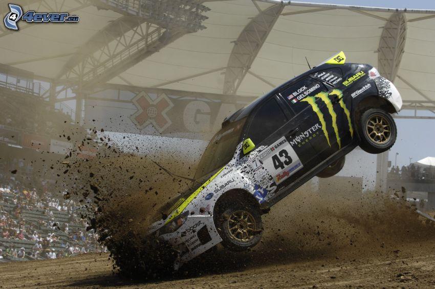 Subaru Impreza, havária, rally