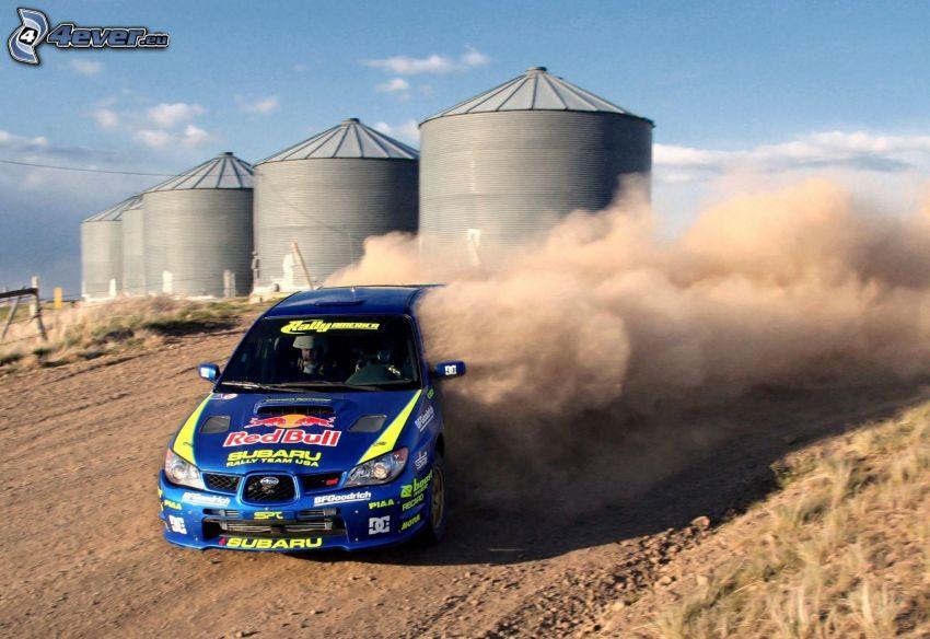 Subaru Impreza WRC, drift, prach