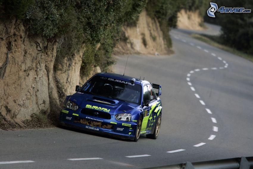 Subaru Impreza WRX STi, rally, cesta