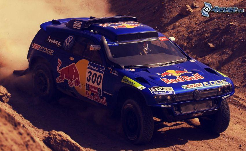 rally, volkswagen, terénne auto, prach