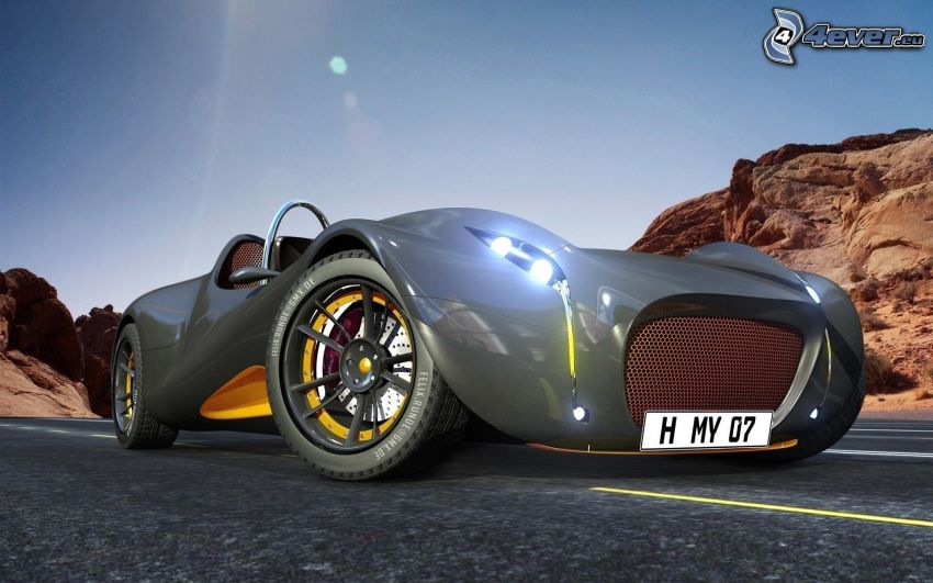 športové auto, kabriolet, koncept