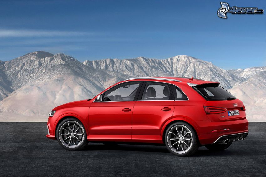 Audi Q3 RS, zasnežené kopce