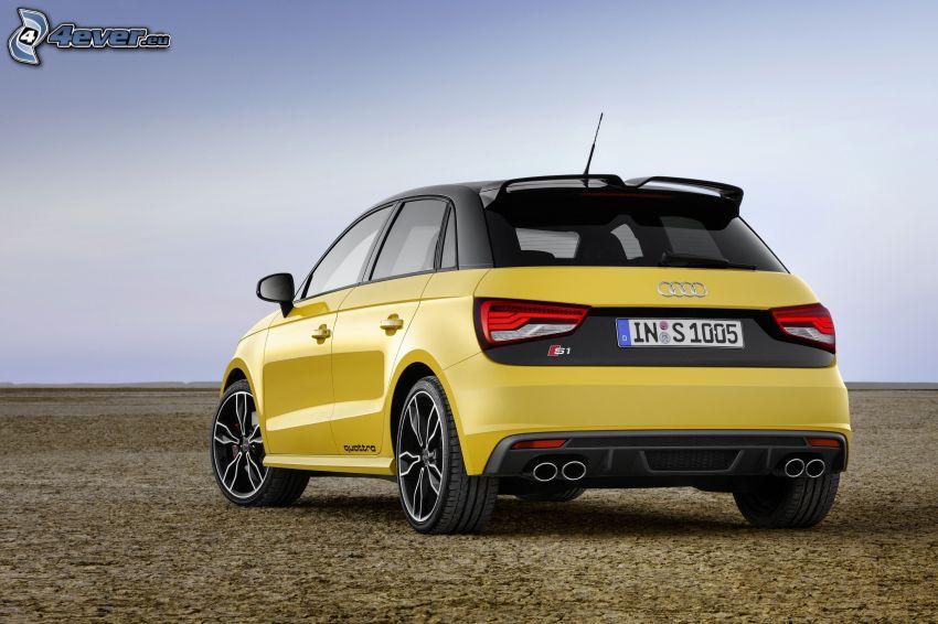 Audi S1, žlté auto