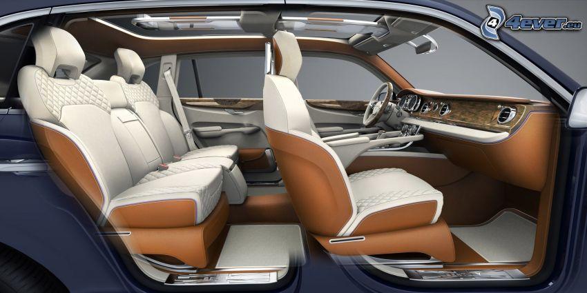 Bentley EXP 9F, interiér