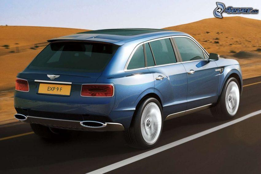Bentley EXP 9F, púšť, rýchlosť