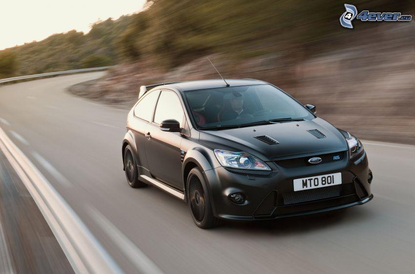 Ford Focus RS, cesta, rýchlosť