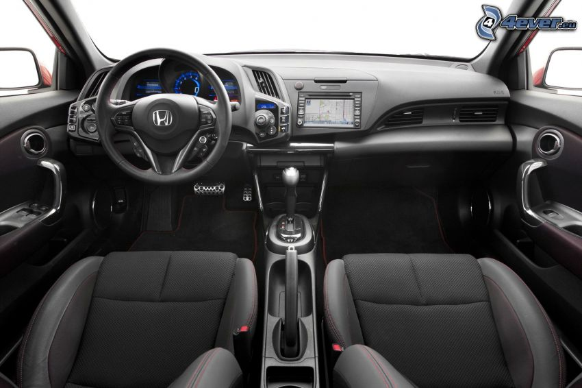 Honda CR-Z, interiér, palubná doska, volant