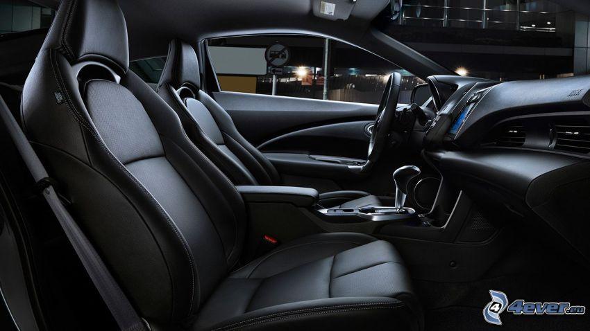 Honda CR-Z, interiér, volant, palubná doska