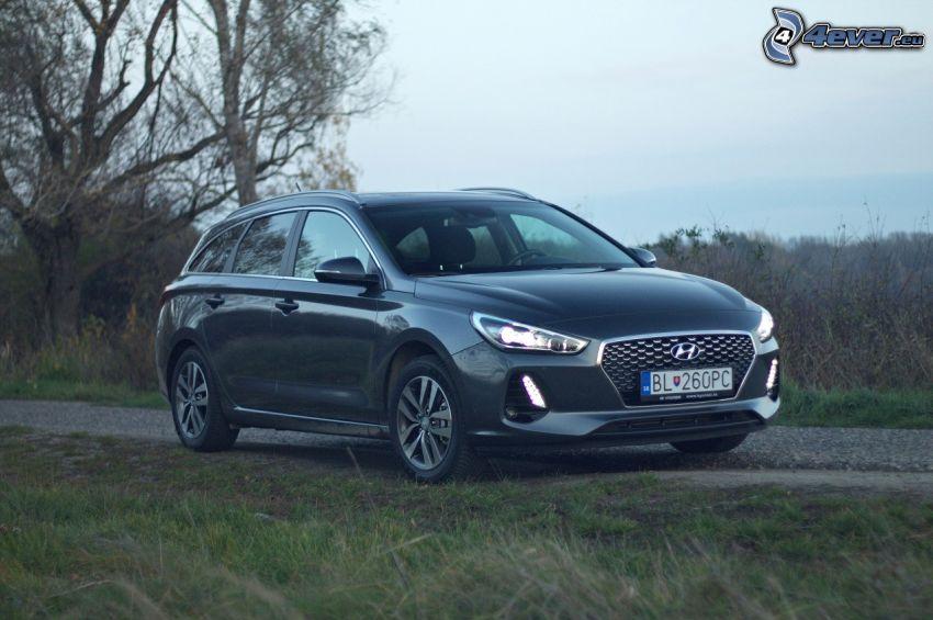 Hyundai i30, poľná cesta