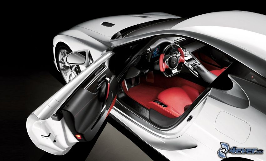 Lexus LFA, dvere, volant