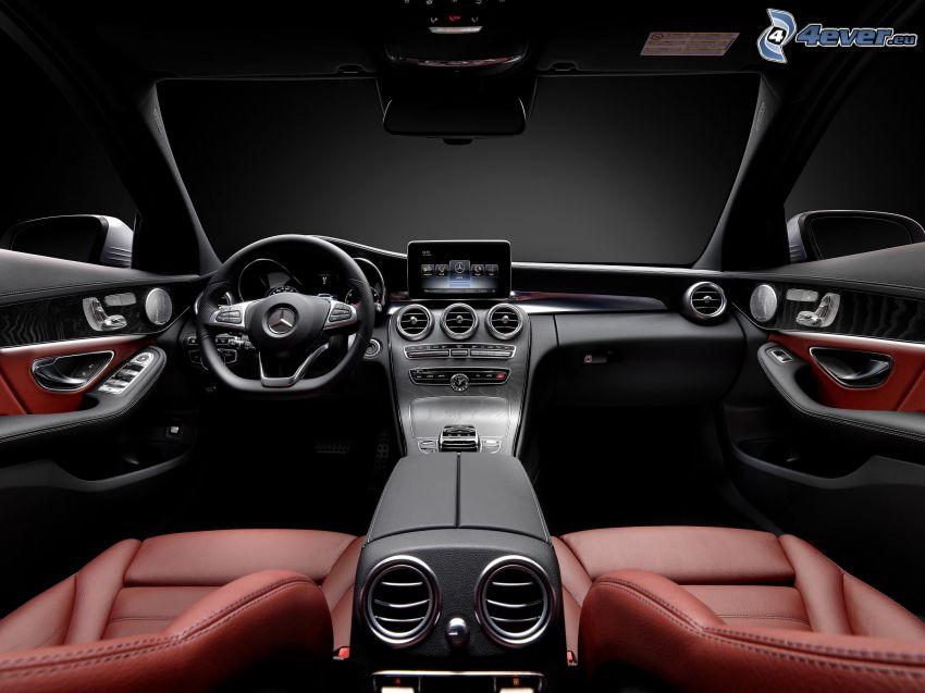 Mercedes-Benz, interiér, volant, palubná doska
