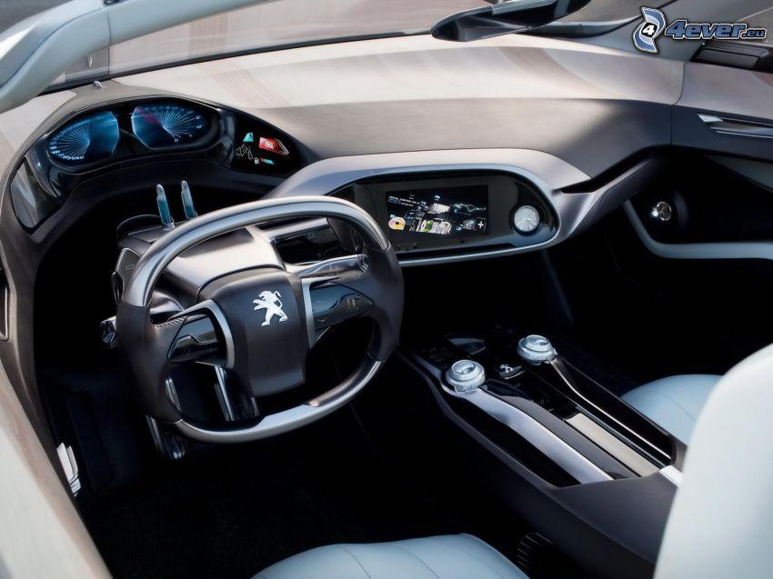 Peugeot, interiér, volant