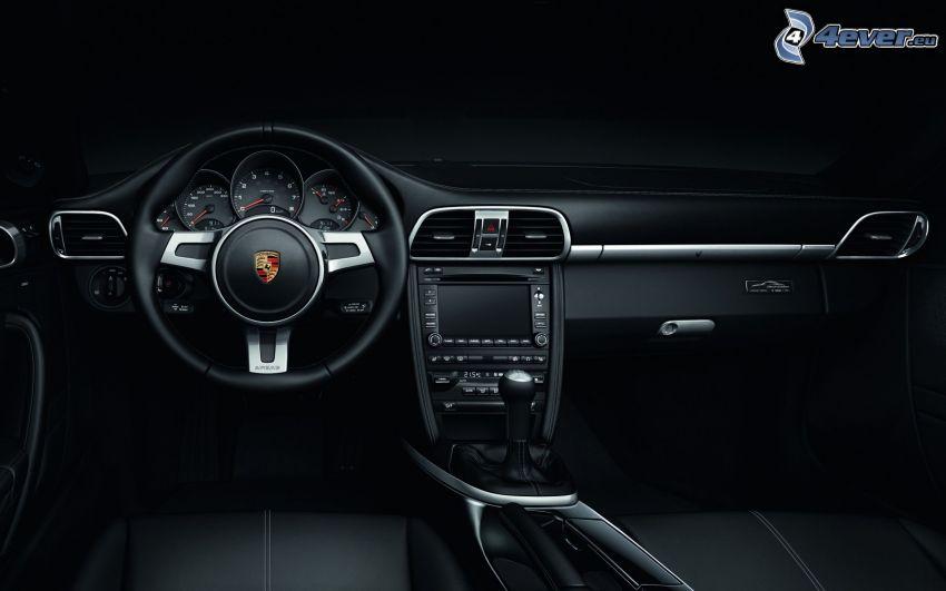 Porsche 911, interiér, volant, palubná doska