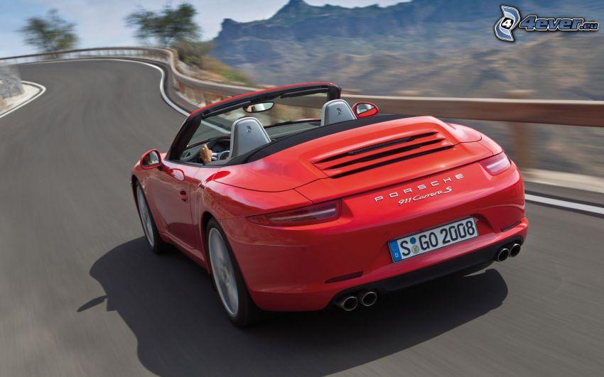 Porsche 911 Carrera S, kabriolet, cesta, rýchlosť