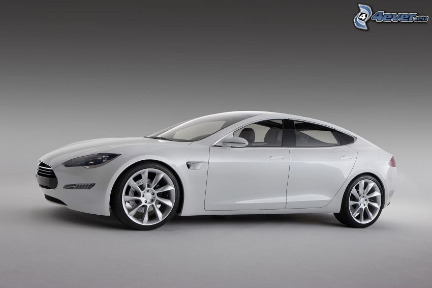 Tesla Model S, koncept, elektrické auto