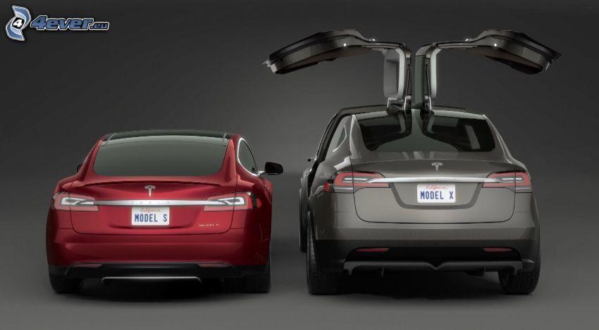 Tesla Model X, Tesla Model S, falcon doors
