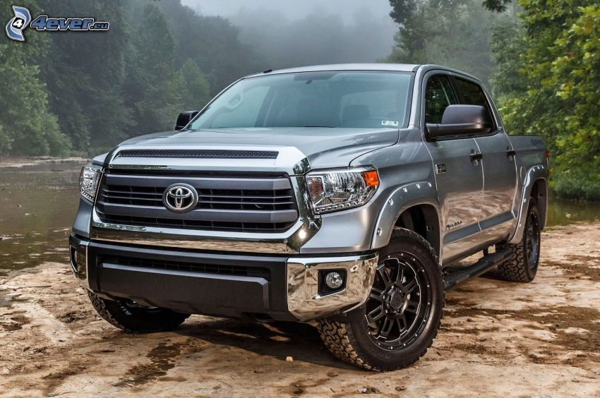 Toyota Tundra, rieka, les