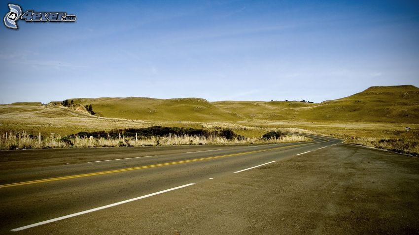cesta, pohorie