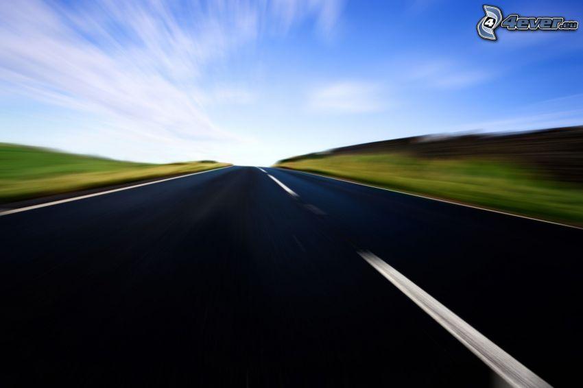 cesta, rýchlosť