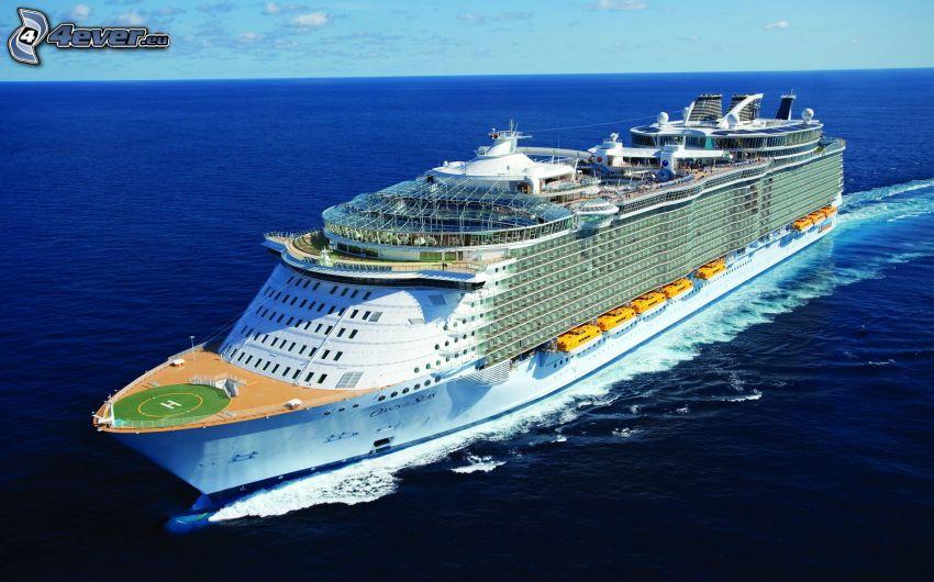luxusná loď, šíre more