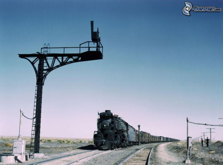 parný vlak, stĺp