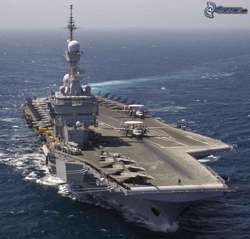 R91 Charles de Gaulle, lietadlová loď, šíre more