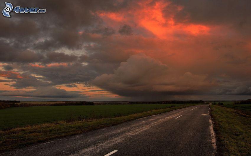 stará cesta, oblaky