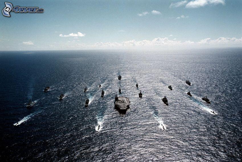 U.S. Navy, lode, lietadlová loď, more