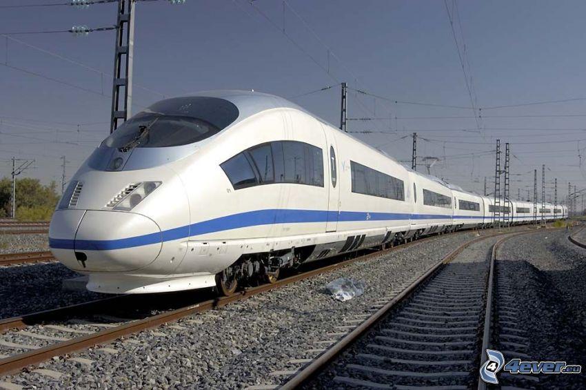 CRH3, vlak, koľajnice