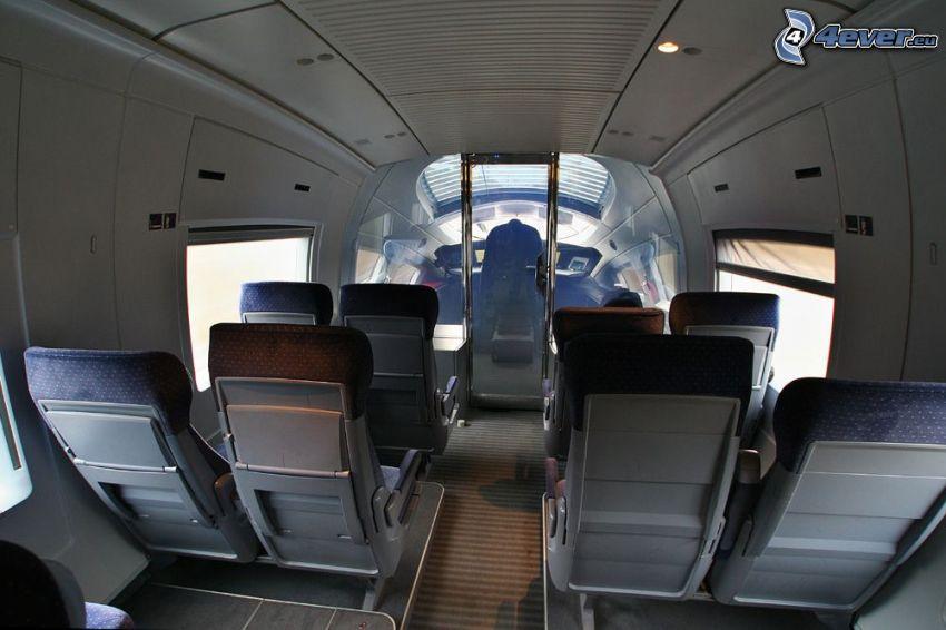 ICE 3, kokpit, interiér
