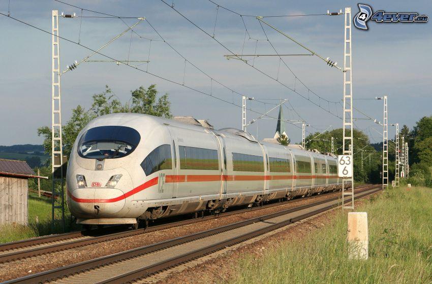 ICE 3, železnica, koľajnice, rýchlovlak